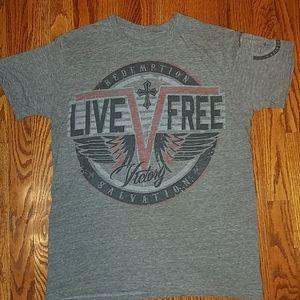 Raw State gray t-shirt top size medium